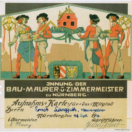 Innung Maurer Zimmerer 1933