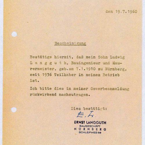 Teilhaberschaft Ludwig Langguth